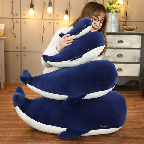 New Super Soft Big Blue Whale Plush Toy in all 4 sizes from Almas Collections