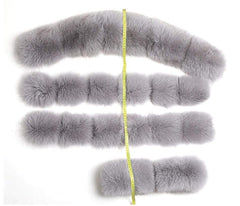 Parka Natural Real Fox Fur Coats fur used from Almas Collections