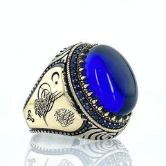Turkish aqeeq rings for him