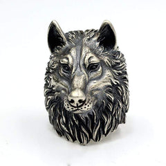 Vintage Nordic Wolf Head Ring from Almas Collections