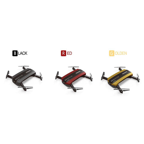 Selfie Drone JXD 523W JXD 523 Tracker Foldable Mini Rc Drone with Wifi FPV Camera Altitude Hold Headless Mode RC Helicopter Almas Collections  RC Helicopters