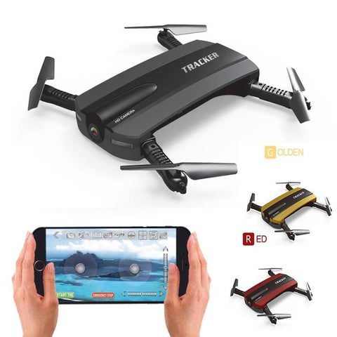 Image of Selfie Drone JXD 523W JXD 523 Tracker Foldable Mini Rc Drone with Wifi FPV Camera Altitude Hold Headless Mode RC Helicopter Almas Collections  RC Helicopters