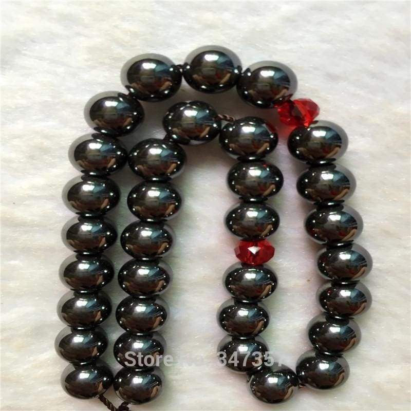 8mm Hematite Stone  Round Shape 33 Tasbeeh IS1 - Almas Collections