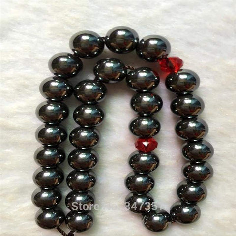 Image of 8mm Hematite Stone  Round Shape 33 Tasbeeh IS1 - Almas Collections