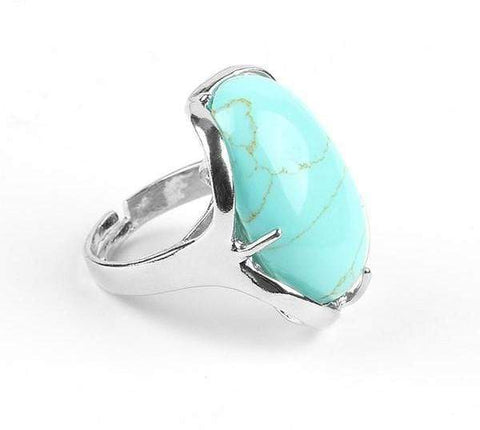New Natural Gem Stone Reiki Chakra Healing Point Ring from Almas Collections