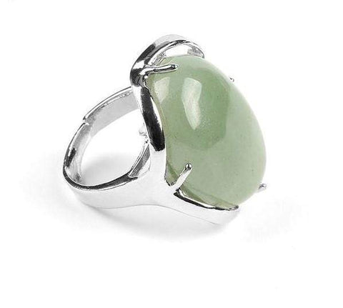 Image of New Natural Gem Stone Reiki Chakra Healing Point Ring NS3 IS1 IS2 VAL1 Almas Collections  Gem stone rings
