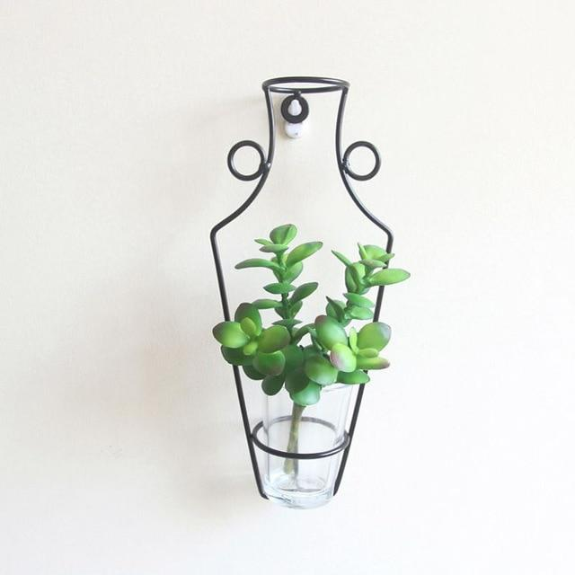 New Wall hanging Nordic Style Iron Frame Vase HM1 hm1 Almas Collections  Home decor