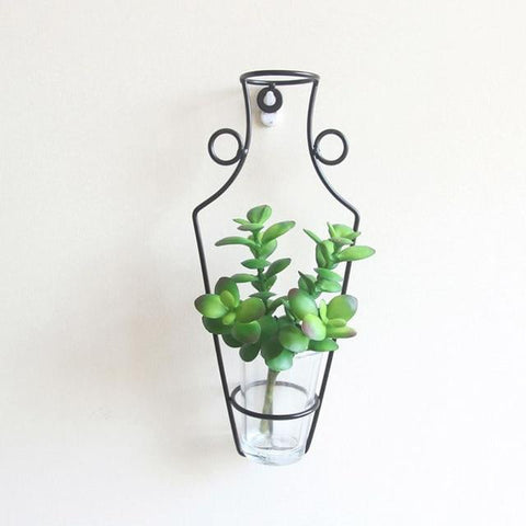 Image of New Wall hanging Nordic Style Iron Frame Vase HM1 hm1 Almas Collections  Home decor