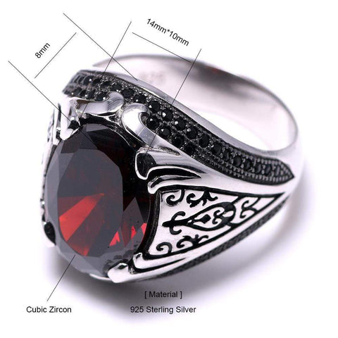 New 925 Silver Vintage Turkish Ring size For Men & Women