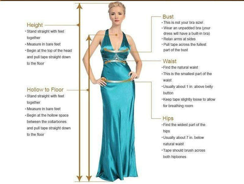Boho Beach Wedding Dress how to measure chart from Almas Collections