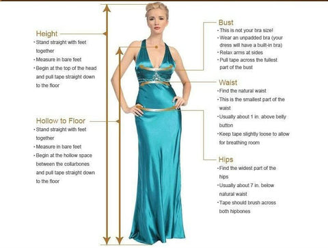 Long Princess Beach Wedding Dress size chart from Almas Collections
