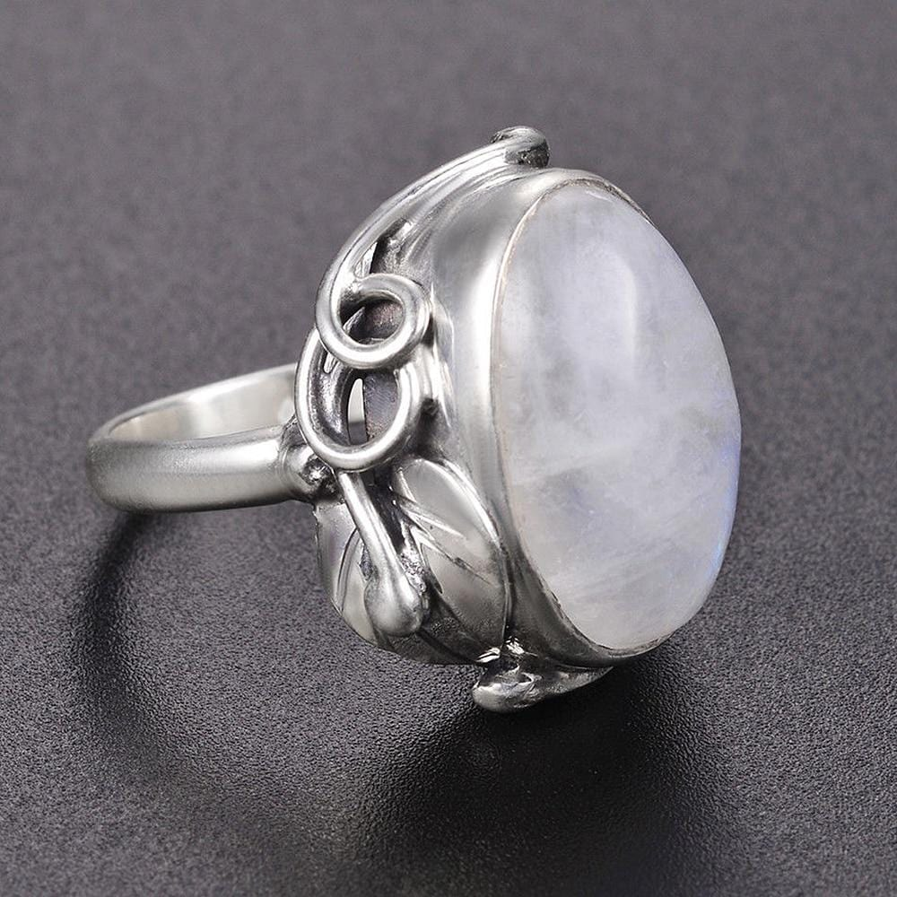 New Vintage 925 Sterling Silver Moon Stone Ring from Almas Collections