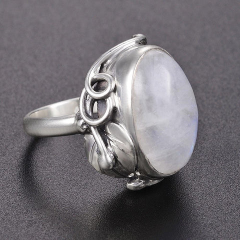 Image of New Vintage 925 Sterling Silver Moon Stone Ring from Almas Collections