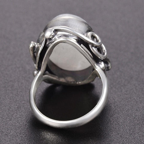 Image of New Vintage 925  Sterling Silver Moon Stone Ring IS2 IS1 VAL1 NS3