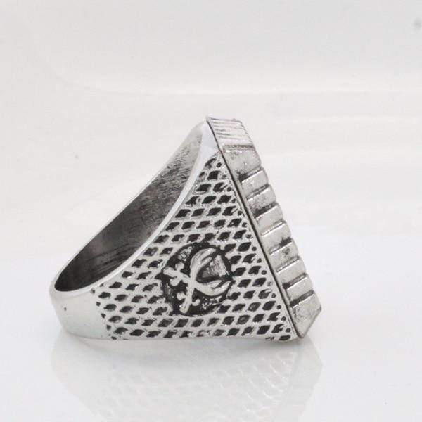 Antique Silver Zulfiqar Sword of Imam Ali Ring side view