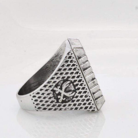 Image of Antique Silver Zulfiqar Sword of Imam Ali Ring side view