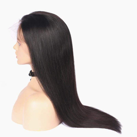 Image of Remy Transparent Full Lace Wigs side view from Almas Collections