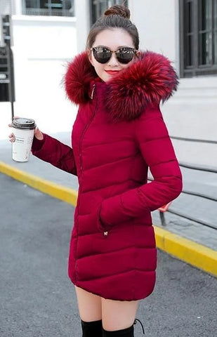 Image of New Almas Long Hooded Parkas Winter Jacket Almas Collections