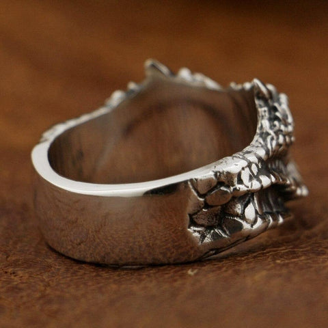 New 925 Sterling Silver Snake Ring side view from Almas Collections