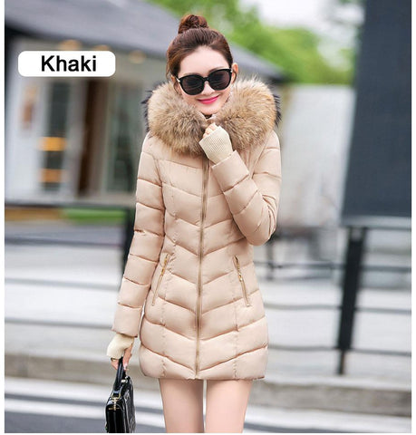 New Almas Long Hooded Parkas Winter Khaki color Jacket front view Almas Collections