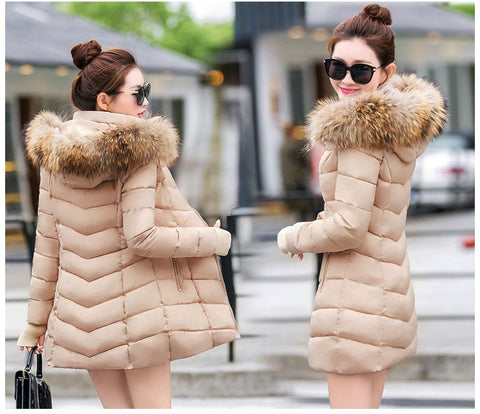 Image of New Almas Long Hooded Parkas Winter Khaki color Jacket back view Almas Collections