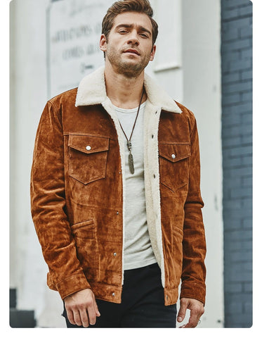 Image of New Men's Genuine Leather Jacket from Almas Collections