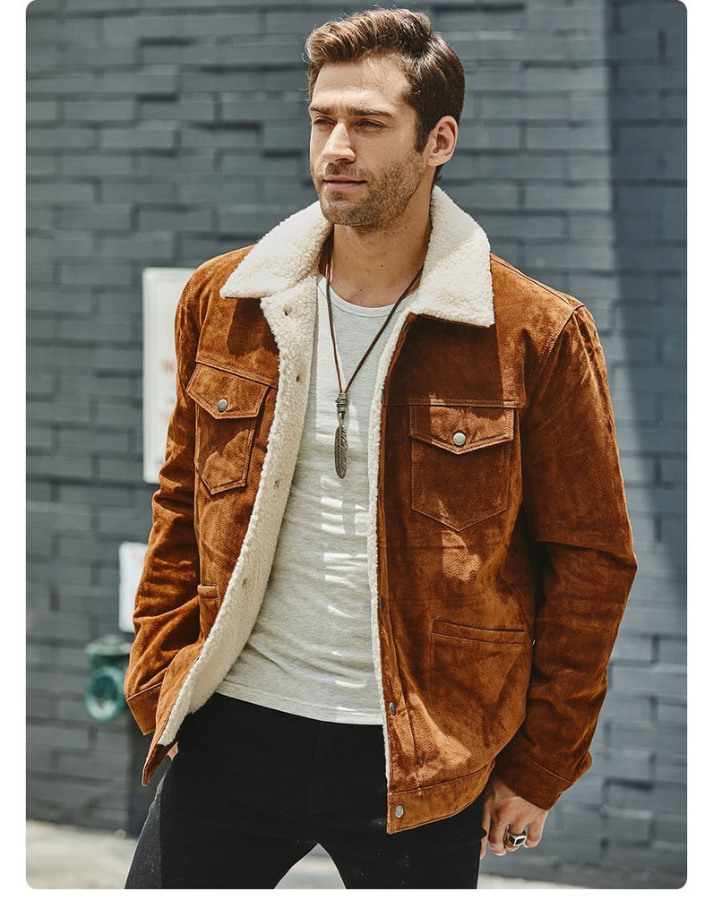 New Men's Genuine Leather Jacket from Almas Collections