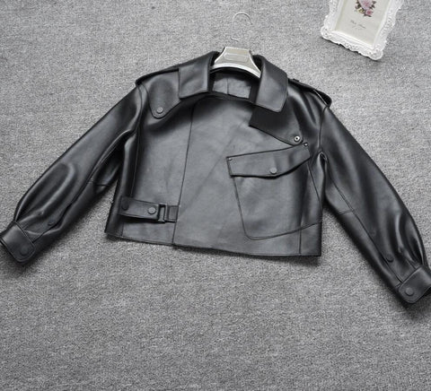 Image of New Genuine Women Leather Jacket in black from Almas Collections