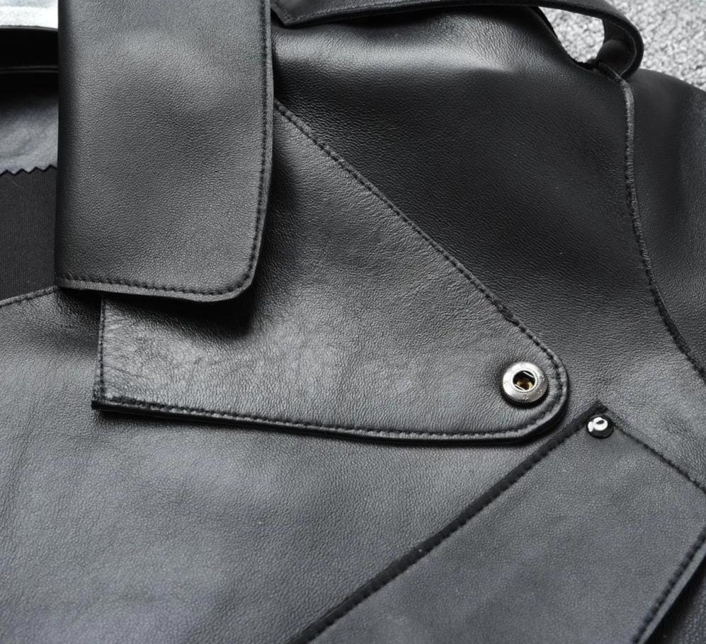 New Genuine Women Leather Jacket close up from Almas Collections