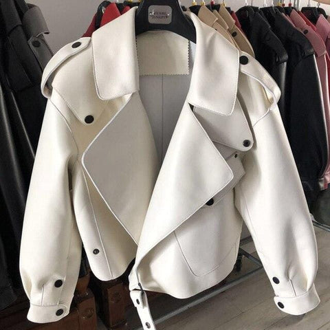 Image of New Genuine Women Leather Jacket in white from Almas Collections