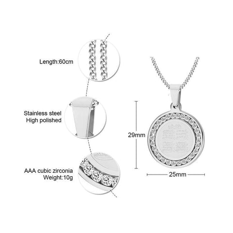 4 Qul Pendant Necklace Gift Hajj Umrah size from Almas Collections