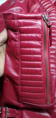 New Biker Genuine Short Slim Leather Jackets close up from Almas Collections
