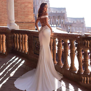 Boho Mermaid Wedding Dress 2020 by Almas Collections