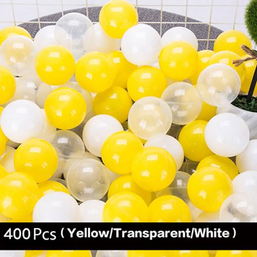Ball pit Balls 400 Pcs Yellow and clear balls