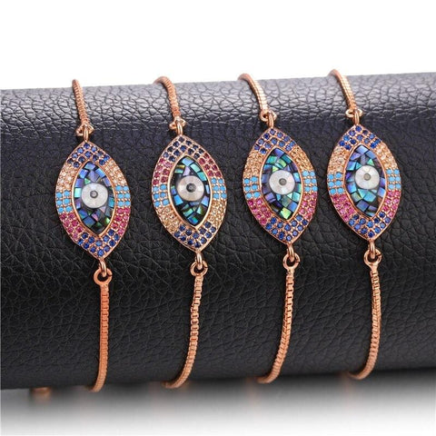 Image of Turkish Evil Eye Charm Bracelets from Almas Collections