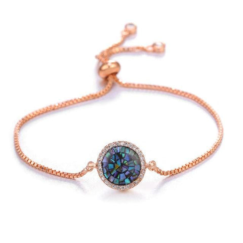 Image of Turkish Evil Eye Charm Bracelets in rose gold color from Almas Collections