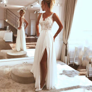 Boho Beach Wedding Dress from Almas Collections