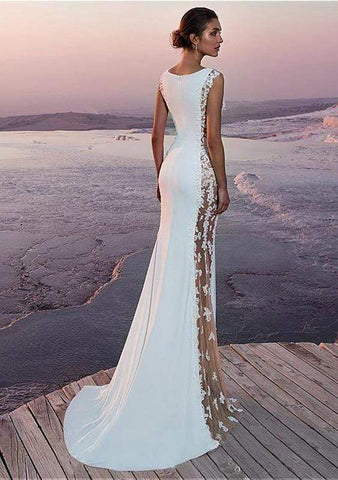 Image of New Satin Lace Mermaid Style Wedding Dress from Almas Collections