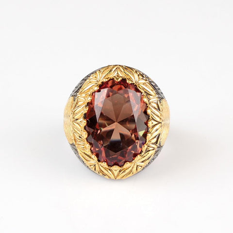Turkish Oval Sterling Silver Zultanite Ring by Almas Collections