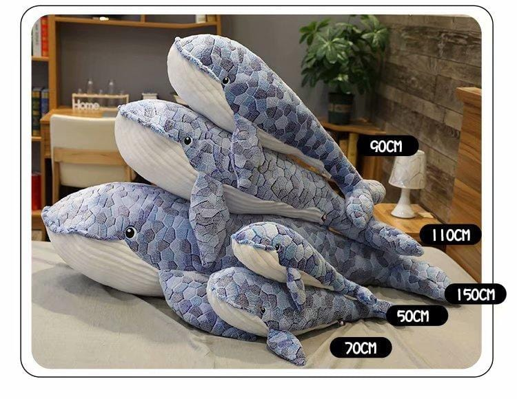 Giant Plush Whale Toy in 4 sizes