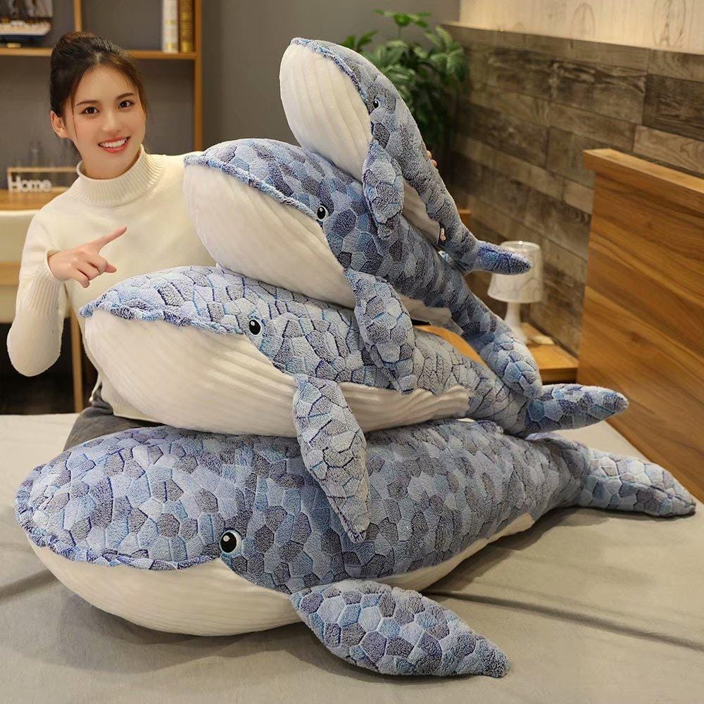 Giant Plush Whale Toy from Almas Collections