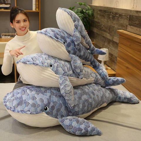 Image of Giant Plush Whale Toy from Almas Collections