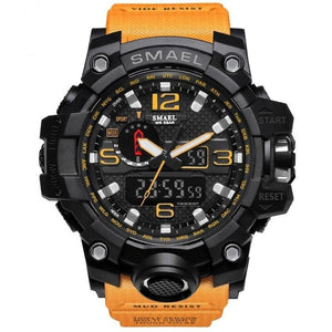 Men's Military Watch in Black and Orange color