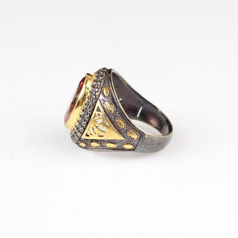 Turkish Sterling Silver Zultanite Ring side view