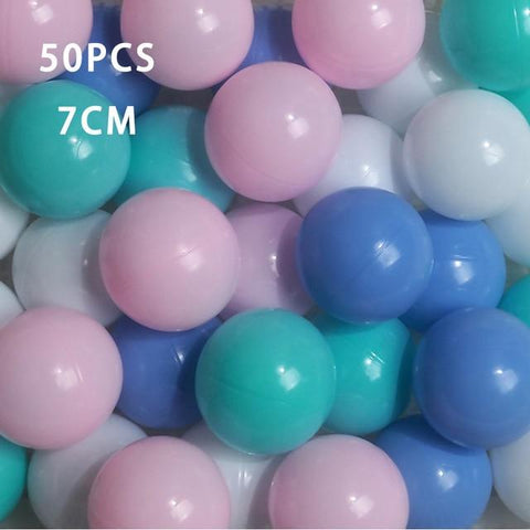Image of 50 Pcs 7cm Nursery Colorful Ball Pit Plastic Balls