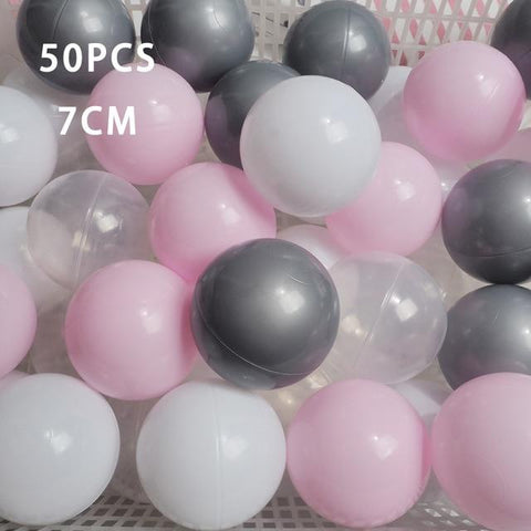 Image of 50 Pcs 7cm Colorful Ball Pit Plastic Balls
