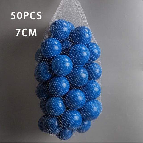 Image of 50 Pcs 7cm Ocean Blue Ball Pit Plastic Balls