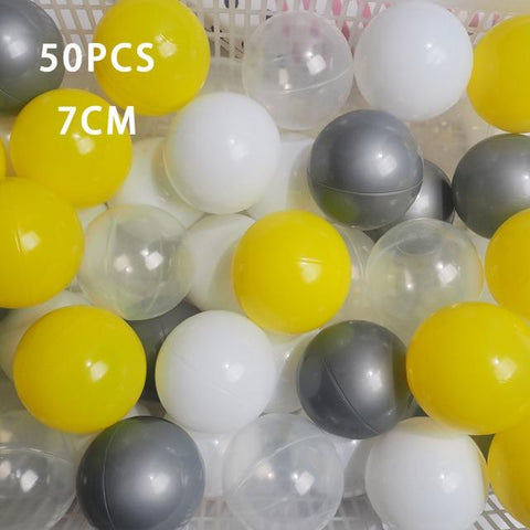 Image of 50 Pcs 7cm Colorful Ball Pit Plastic Balls from Almas Collections