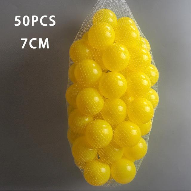 50 Pcs 7cm yellow Ball Pit Plastic Balls