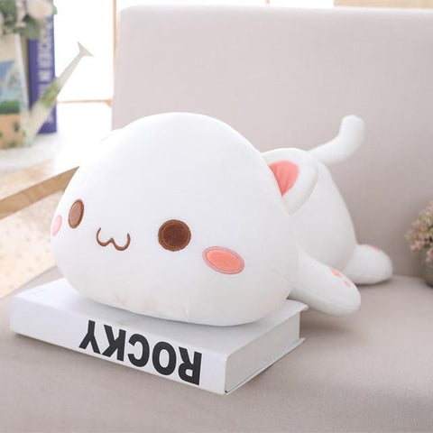Image of Cute Cat Plush Toy in white color